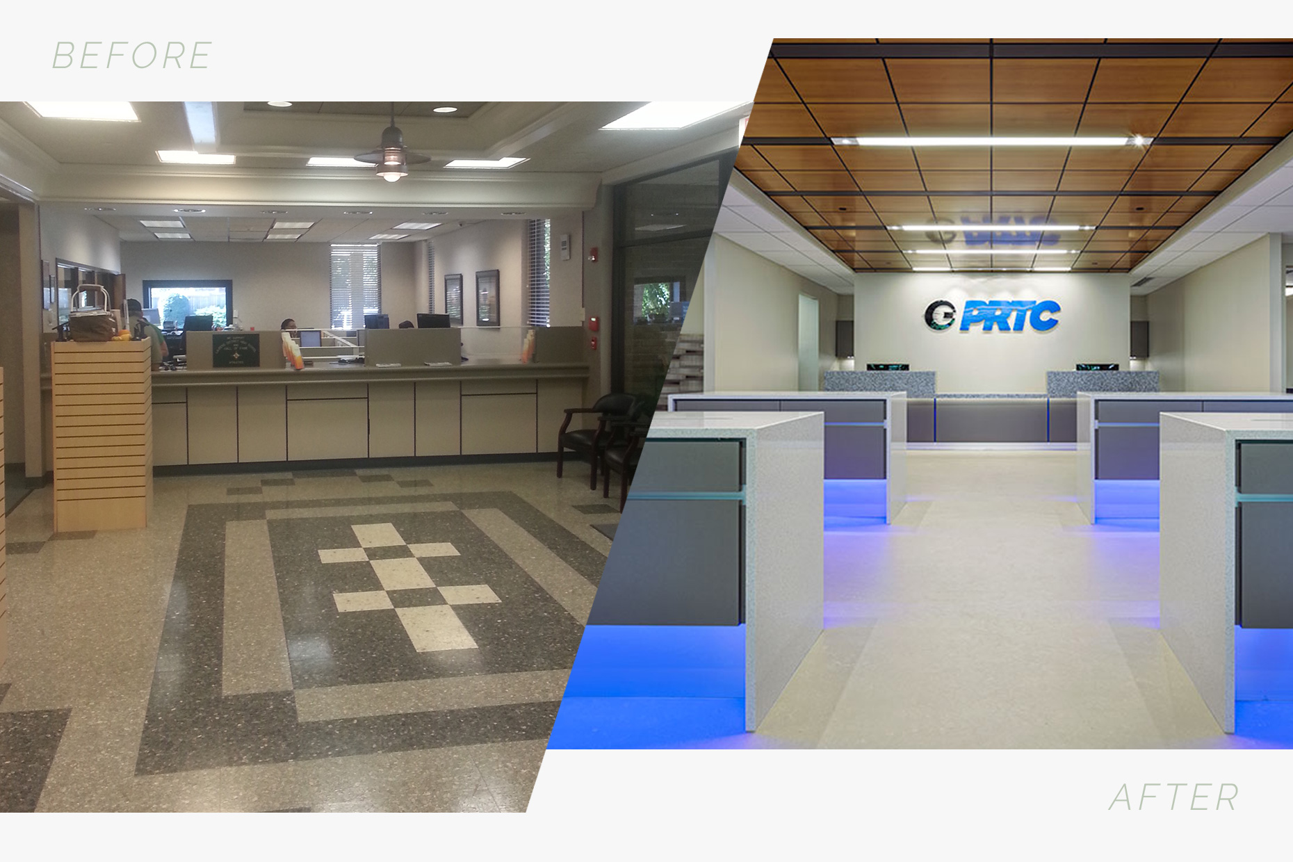 PRTC - entry before & after